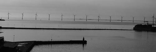 Copenhagen windmills (black & white)