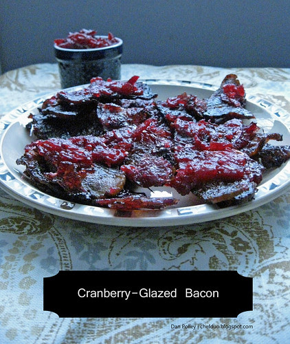 Cranberry-Glazed Bacon