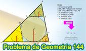 Problema de Geometría 144. Triangulo, Circunferencia Inscrita, Tangente, Paralela, Incentro,Inradius.