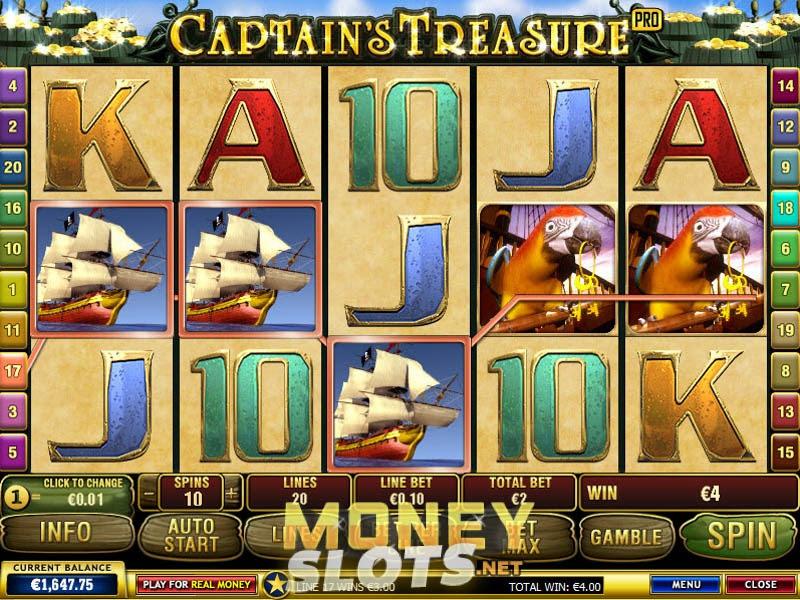 Machine captains treasure slot machine online playtech without buffalo