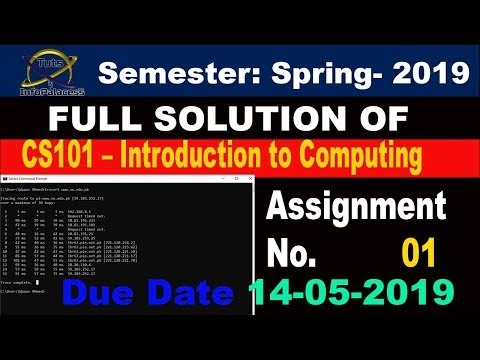 CS101 Assignment No. 2 Solution Spring 2019 With Step by Step Guideline