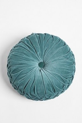 Round Velvet Pintuck Pillow - eclectic - pillows - - by Urban ...