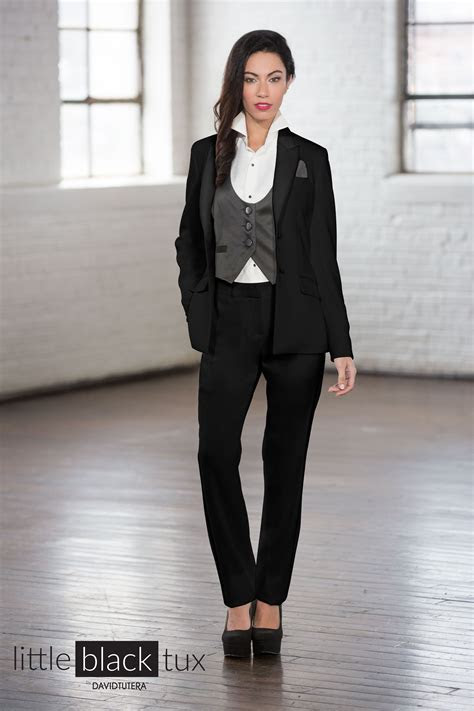 Women's Black Tuxedo by David Tutera   Women's Tuxedos