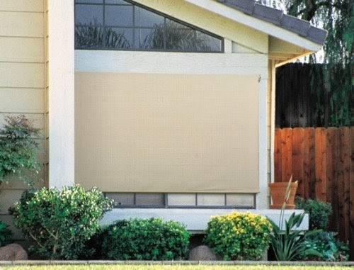 Exterior roller blinds coolaroo 454449 premier sun shade for Exterior no chain window shade