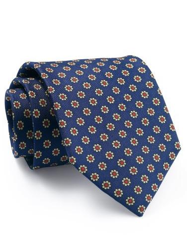 Mẫu Cravat Đẹp 4 - Xanh Chấm Hoa