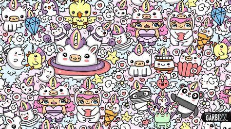 kawaii unicorn world kawaii graffiti  cute doodles