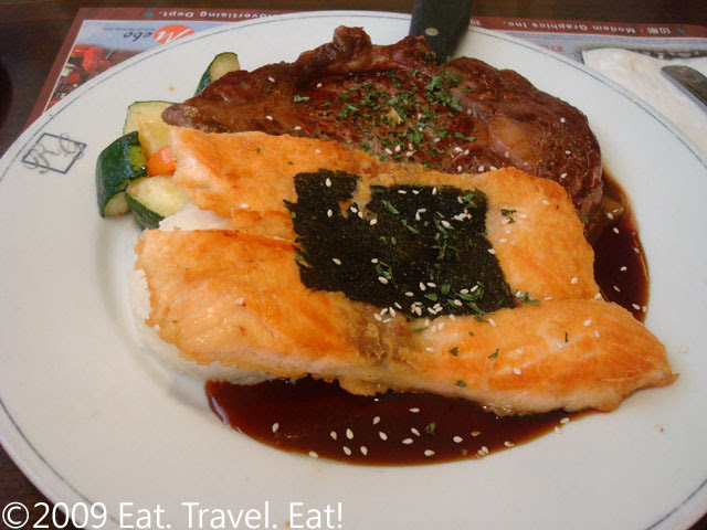 Teriyaki Salmon and Steak Plate