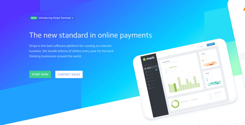 Stripe homepage 2019