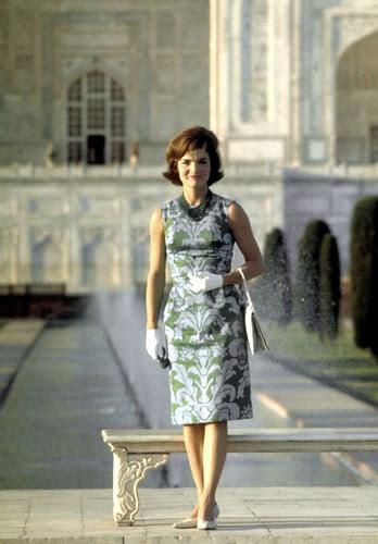 Jackie Kennedy at theTaj Mahal