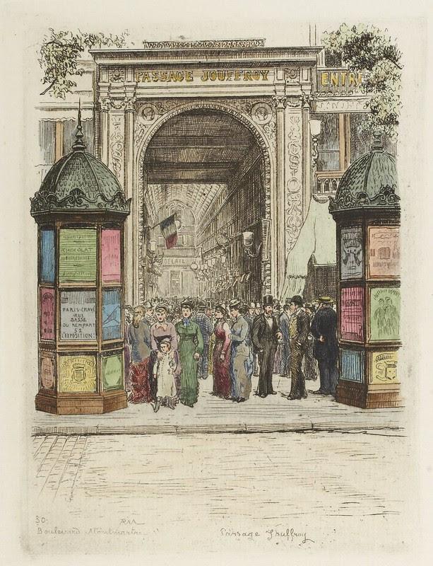 Boulevard Montmartre - Passage Jouffroy 1877