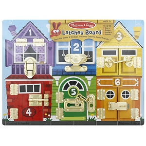 Melissa and Doug Latches Board, Ages 3+