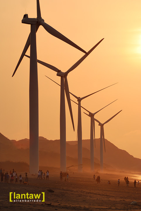 Bangui Windmills Sunset