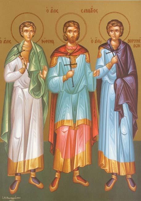 IMG STS. TROPHIMUS, SABBATIUS, DORYMEDON Martyrs