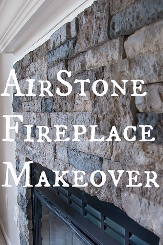 Living In During Airstone Fireplace Makeover