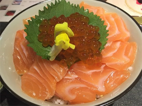 三文魚鮮子丼 - 將軍澳的瀛 ‧ 日式料理