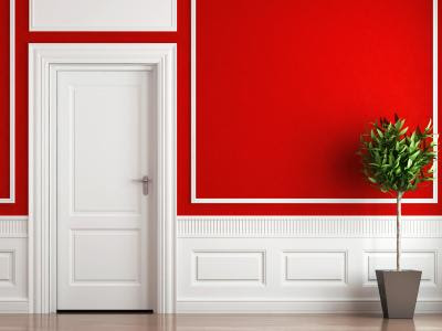 Red Walls & White Molding - Red, yellow & orange themes