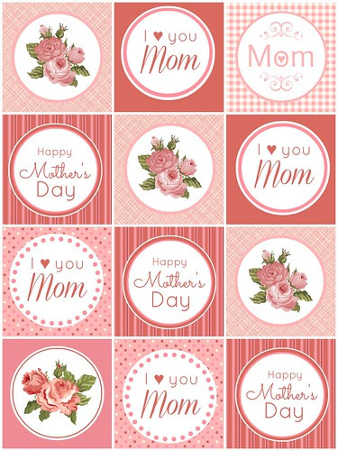 Mother's Day Cupcake Toppers/Tags