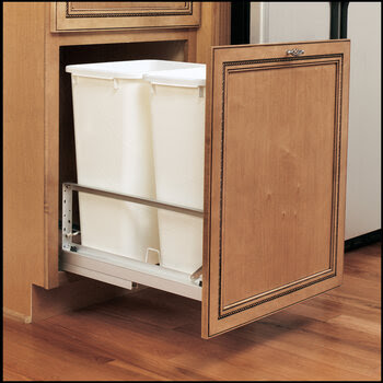 Pull Out & Built In Trash Cans Cabinet Slide Out & Under Sink