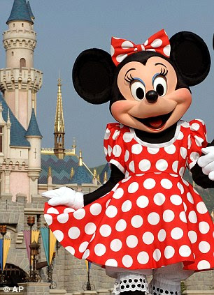 Minnie Mouse's iconic polka-dot outfit has inspired London Fashion Week designers