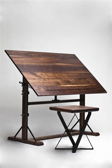 wooden drafting table plans woodworking projects