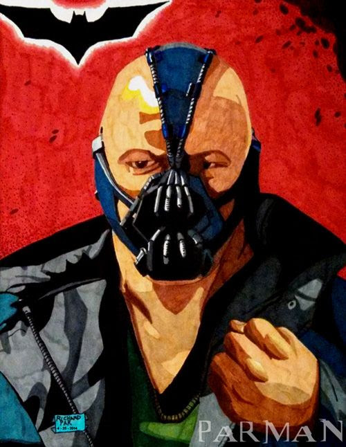 My drawing of Bane from THE DARK KNIGHT RISES.