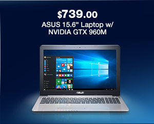 "ASUS 15.6"" Laptop w/ NVIDIA GTX 960M"