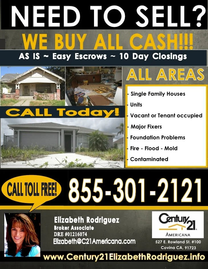 We buy properties ALL CASH...