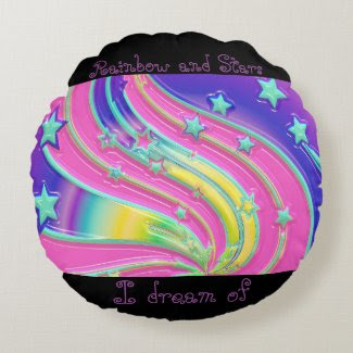 Kids Rainbow And Stars Pillow