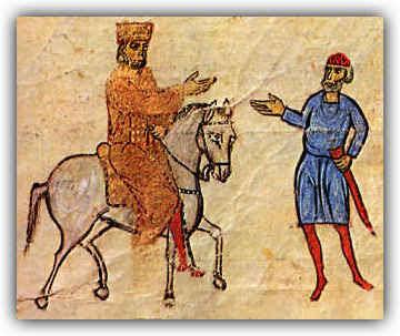 Βασίλειος Α΄ έφιππος (Χρονικόν Ι. Σκυλίτση)