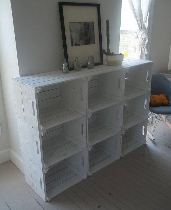 Crates   DIY   white   Home   storage