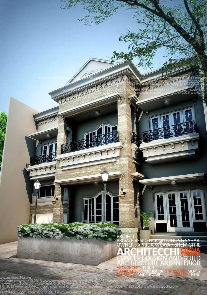 Desain Rumah American Classic - Design Rumah Model Terbaru