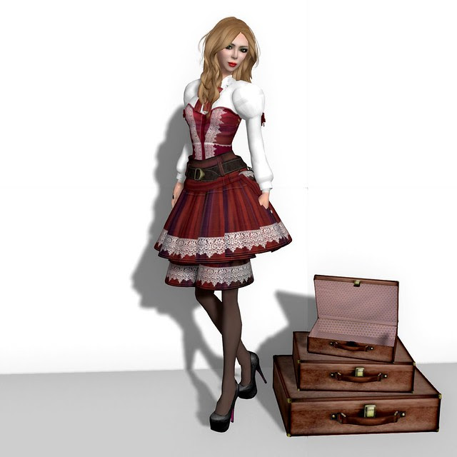 Gift Dress & Gift Mesh Suitcases