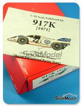 Maqueta de coche 1/24 Model Factory Hiro - Porsche 917K Martini Nº 22 - H. Marko + G. Lennep - 24 Horas de Le Mans 1971 - kit multimaterial