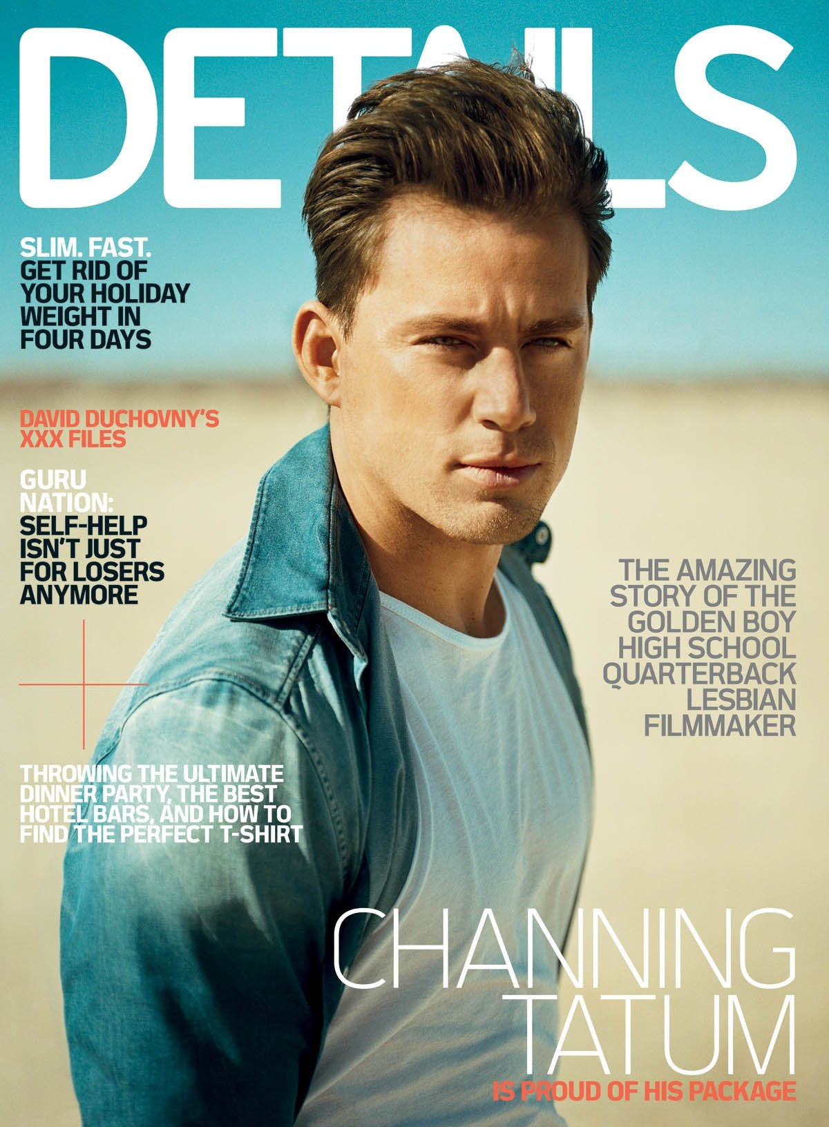 Channing Tatum Featured in February 2010 Details Magazine