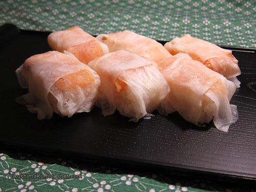 Sushi con daikon sottaceto