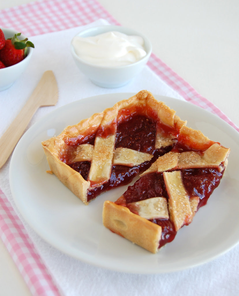 Strawberry crostata / Crostata de morango