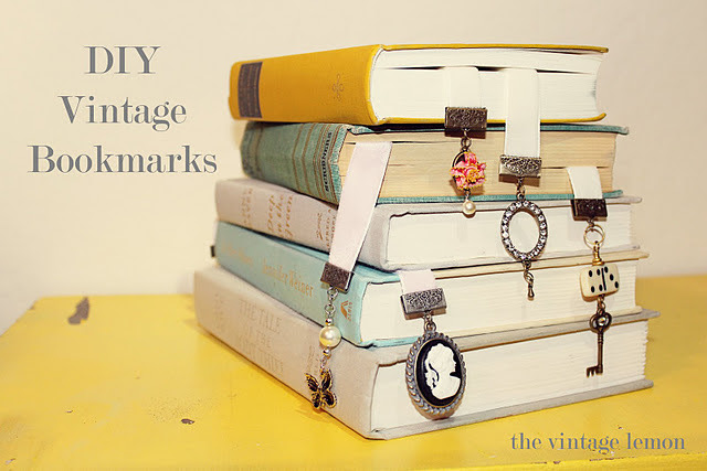 bookmark, books, diy, vintage, ybf