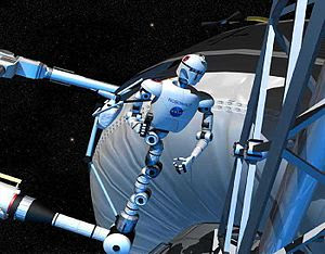 "Visualization of the NASA ""Robonaut""..."