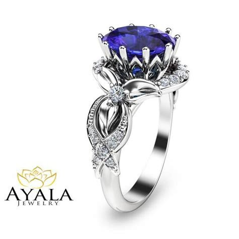 Tanzanite Ring White Gold Tanzanite Engagement Ring 3