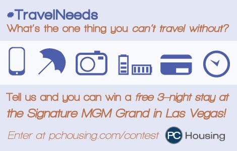 #TravelNeeds PC Housing Travel Contest