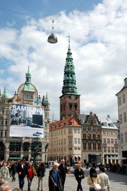 The 1.1 kilometre Strøget, along with its pedestrianised side streets, is one of the longest pedestrian streets in Europe and Copenhagen's premier shopping area