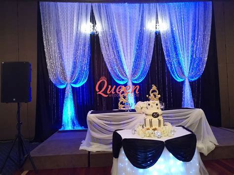 Reception Decor Backdrop   Queen Wedding Decor