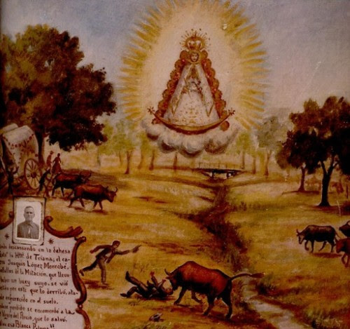 cuadro de la aparicion de la virgen del rocio