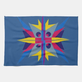 Kitchen Towel with Art Deco Style Star