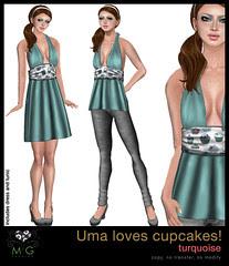 [MG fashion] Uma loves cupcakes! (turquoise)