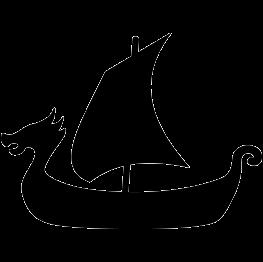viking ship silhouette thumbnail