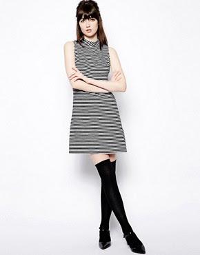 Image 4 ofPop Boutique Sleeveless Swing Dress in Stripe