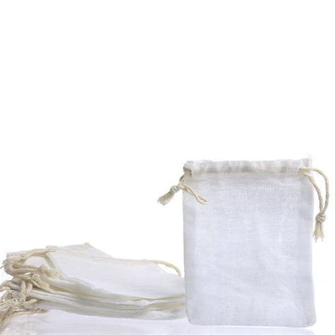 Small Muslin Drawstring Bags   Bags   Basic Craft Supplies