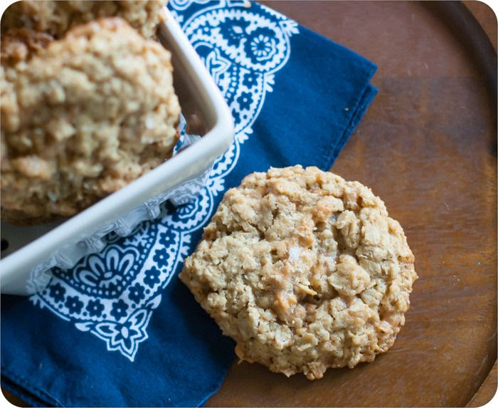 oatmeal toffee cookies {gluten free}