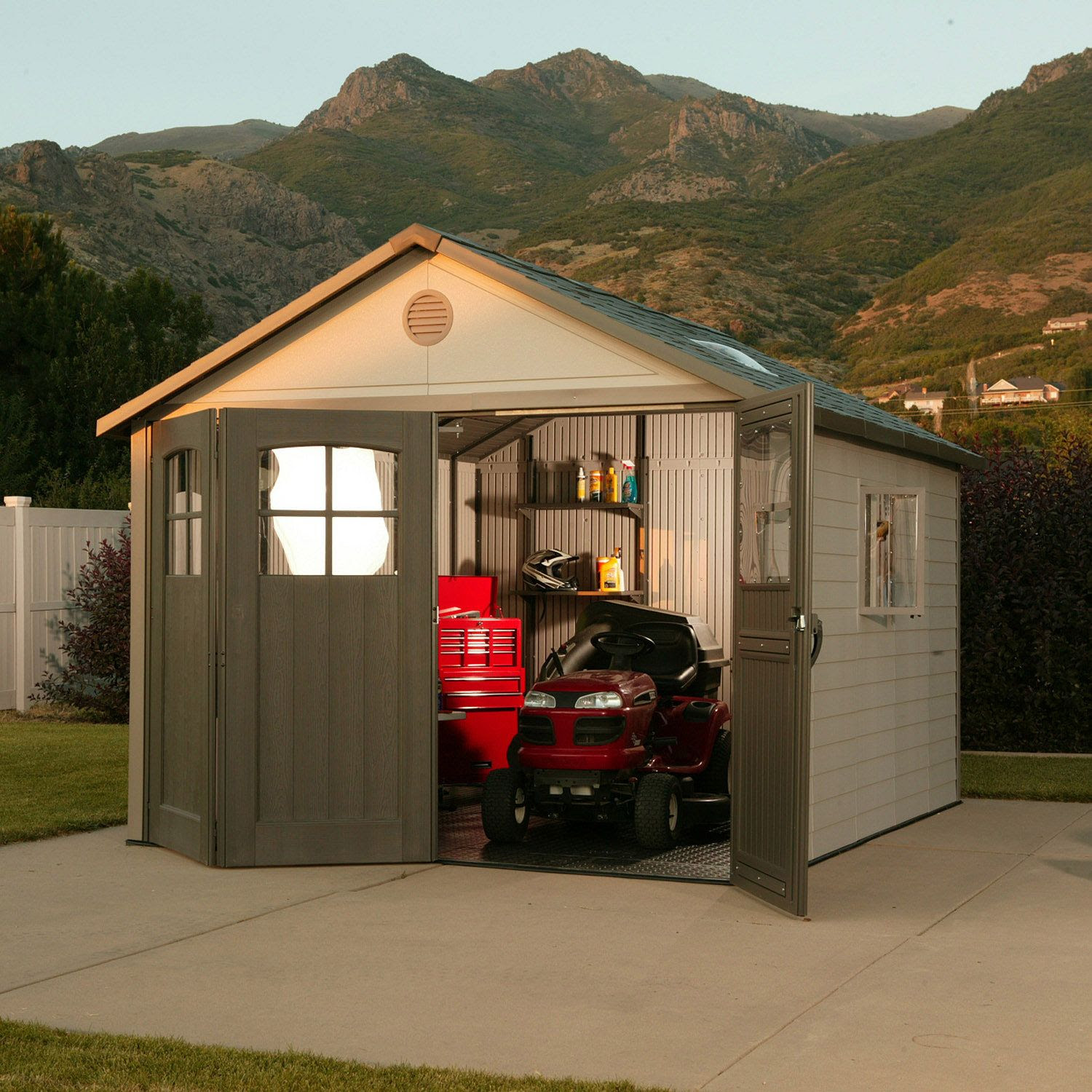 Lifetime 174 11 X 11 Resin Shed Reviews Lifetime Outdoor